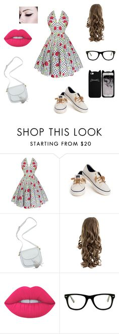 """""""date"""" by crvertelo on Polyvore featuring moda, Sperry, Lime Crime e Muse"""