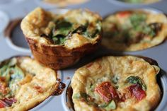 Veggie Frittata Muffins; I think I will use nonfat plain Greek yogurt instead of cottage cheese and use almond flour.