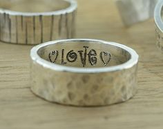 Personalized Jewelry Personalized Ring by emilyjdesign on Etsy