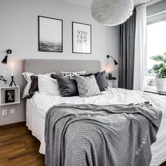 Bedroom inspiration | Vita Eos Light Shade available at www.istome.co.uk #room_decor_grey
