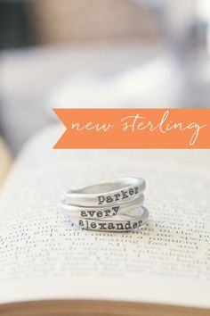 Oh my. Simply perfect. stacking rings {sterling silver} | Lisa Leonard Designs