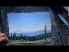 GREAT RUSSIAN 19th century artist  chalk pastels drawing sandpaper мелки пастель Шишкин Лесные дали - YouTube