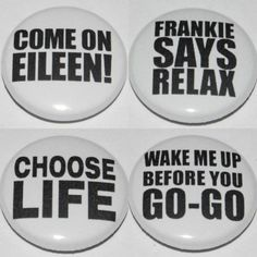 EIGHTIES-PARTY-Button-Badge-25mm-1-inch-Dress-Up-Wham-Retro