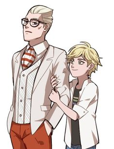 His father just disses him just like that. Look how Innocent Adrien is. He just wants his father to love him. Adrien is so kind too, but his father is not.