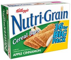 Kelloggs NutriGrain Cereal Bars Apple Cinnamon Big Pack 16Count Boxes Pack of 3 ** More info could be found at the image url.
