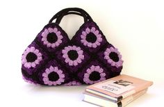 crochet bag from granny squares