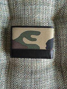 TUMI Camo Double Billfold W/IDLock Camouflage Man Wallet Ballistic Nylon Bilfold