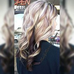 Getting her ready for her engagement pictures! Purple lowlights with her blonde hair! #thelegacysalon #hairbyhannahpeterson #hair #hairstyling #hairstyle #haircut #hairstylist #blondehair #blonde #curls #curlyhair #curly #flashlift #redkenobsessed #redken #purplelowlights #americansalon #modernsalon #stylistsupportstylist #behindthechair #cullman #cullmamhairstylist #cullmanhair #cullmanal #color #haircolor #flashliftbyredken #flashliftlightener #hairstylist_tribe #unicorntribe