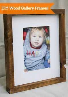 These DIY Wood Gallery Frames are the perfect way to display all your favorite photos. Make a bunch of these to create a gorgeous gallery wall in your home!