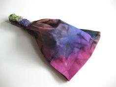 Headband Gypsy Head Wrap Dreadband Women's Elastic Bandana Pink Green Blue Purple Batik Tie Dye