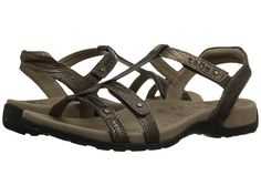taos Footwear Trophy Reptile Embossed T-Strap Slingback Wedge Sandal leather bronze, light gold .5h sz7 100.00 5/16