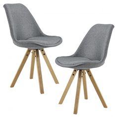 Táto stabilná čalúnená stolička [en.casa] HTMS-2860 Annika s drevenými nohami môže priniesť do vašej domácnosti nielen moderný elegantný dizajn, ale aj vynikajúce úžitkové vlastnosti, nosnosť: 100 kg, rozmery: 85 x 48,5 x 53,5 cm, výška sedáku: 49,5 cm, produkt značky [en.casa]