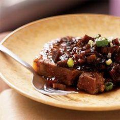 Grilled Pork Chops with Rhubarb Chutney | MyRecipes.com