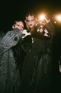 Stella Lucia and Molly Bair backstage at Marc Jacobs.