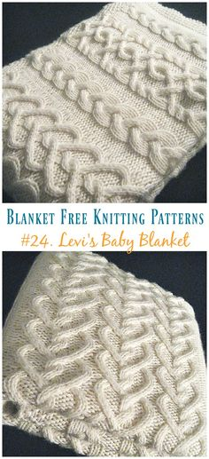 Levi's Cable Baby Blanket Knitting Free Pattern - Easy #Blanket; Free #Knitting; Patterns