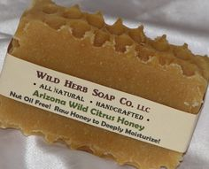 ALL NATURAL Wild Honey Soap - Handmade from Scratch + Citrus Essential Oil Scent $4.25