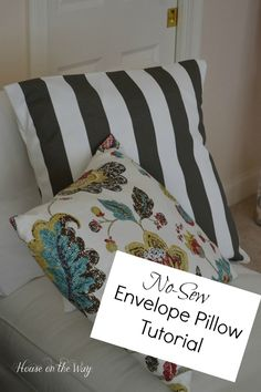 Discover how to create these beautiful throw pillows without lifting a needle!