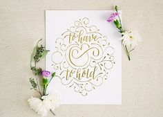 Paper and Honey Gold Foil Valentines Day Print