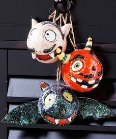 Look at this Spooky Halloween Ornament Set on #zulily today!