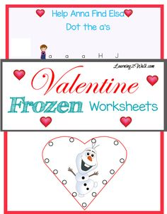 You need to try our Valentine Frozen Worksheets : puzzles, tracing and more!!