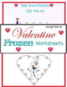 Valentine Frozen Worksheets