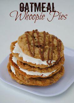 Looks pretty yummy! The Farm Girl Recipes: Oatmeal Whoopie Pies