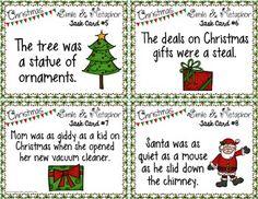{FREE} Christmas Simile and Metaphor Task Cards
