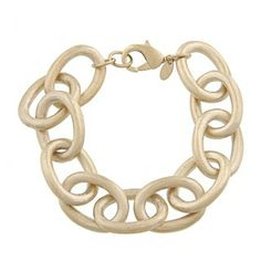 @Overstock.com - This stunning bracelet from Rivka Friedman is crafted with 18-karat yellow gold plating with a satin finish. The rolo-style bracelet offers oval links and secures with a lobster claw clasp.  http://www.overstock.com/Jewelry-Watches/Rivka-Friedman-18k-Goldplated-Satin-Oval-Link-Rolo-Bracelet/6081998/product.html?CID=214117 $59.99