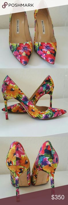 Manolo Blahnik heels 38 Great condition! Resoled once! True to size (8) Manolo Blahnik Shoes Heels
