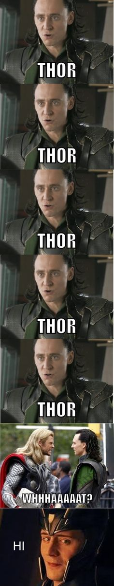 """I mean, he's the god of mischief, Thor, what did you expect."" Had to pin this again for the comment and because it's just so darn funny and I do it to my friends all the time!"