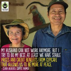 When you choose #FairTrade #coffee, you're helping #women like Clara support her family. Click 'like' to show your support for Clara, a strong woman of Fair Trade!