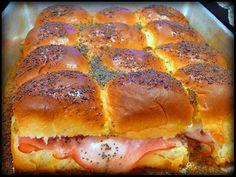 Mini Ham and Swiss Party Rolls