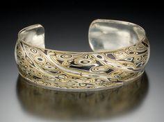 James Binnion Metal Arts. Mokume gane, Patina collection: copper, brass, sterling silver.