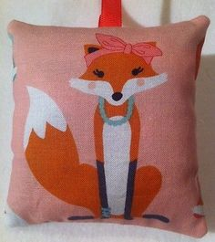 Fox Christmas Gift/ Fox Fabric Lavender Bag / Fox Stocking Filler - Handmade