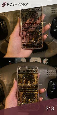 Elephant liquid glitter iPhone case Cute elephant glitter liquid phone case for iPhone 6/6s Accessories Phone Cases