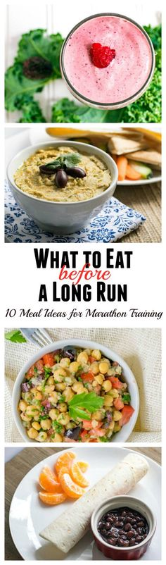 What to Eat Before A Long Run. 10 pre-long run meal ideas for marathon training.