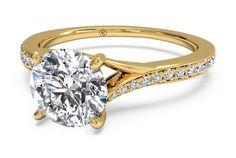 Round Cut Modern Bypass Micropavé Diamond Band Engagement Ring in 18kt Yellow Gold 0.19 CTW - Shadow?w=640&h=430&fit=fill&fm=jpg&q=65&bg=fff