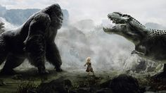 Godzilla and Gorilla picture for desktop and wallpaper