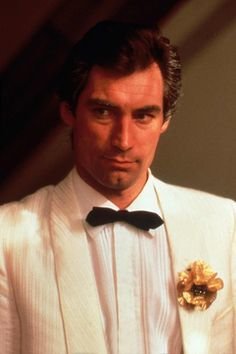 Timothy Dalton as James Bond in Living Daylights (1987).