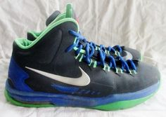 Nike KD V Black Poison Green Silver Hyper Blue 555641-001 Sneakers 6 Sports Shoe