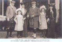 König Edward VII. von England mit 2 Töchtern und deren Familie