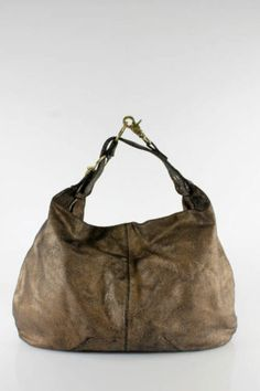 83f8dc8ed23e Botkier Bronze Metallic Leather Hobo Handbag