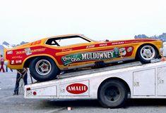 "Shirley ""Cha Cha"" Muldowney's Bounty Huntress Mustang Funny Car in 1972"
