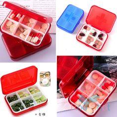 Tablet Pill Box Holder Case Vitamin Medicine Compartments Storage Organizer New
