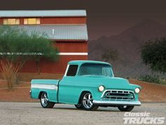 I've always wanted an old truck in this color!