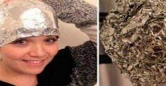 Έβαλε αλουμινόχαρτο μετά το λούσιμο στο κεφάλι της – Το αποτέλεσμα θα το ζηλέψετε