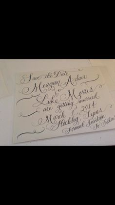 Save the Date Calligraphy by Jennifer Taylor