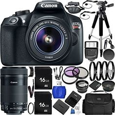 Canon EOS Rebel T6 16 MP DSLR Camera Bundle with Accessories 31 Items * Find out more about the great product at the image link.