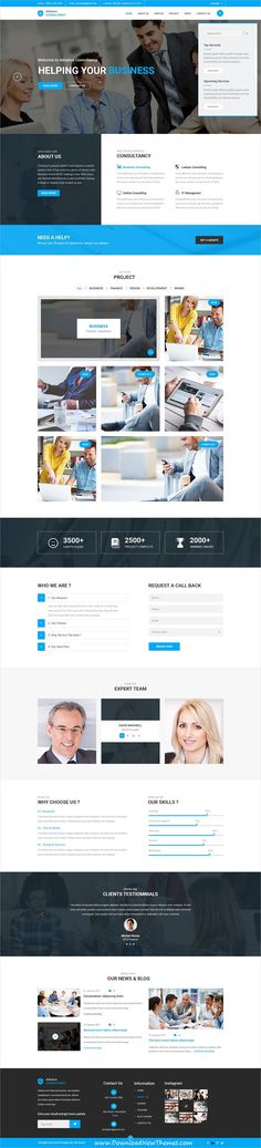 Advance is a clean and modern design #PSDtemplate for #corporate business #website with 2 homepage #layouts and 14 layered PSD files to download & live preview click on image or Visit