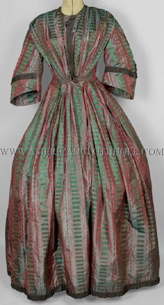 Plaid Dress, Silk Dress, 1850s Fashion, Civil War Fashion, Historical Women, 19th Century Fashion, Bobbin Lace, Historical Costume, Fashion Photo